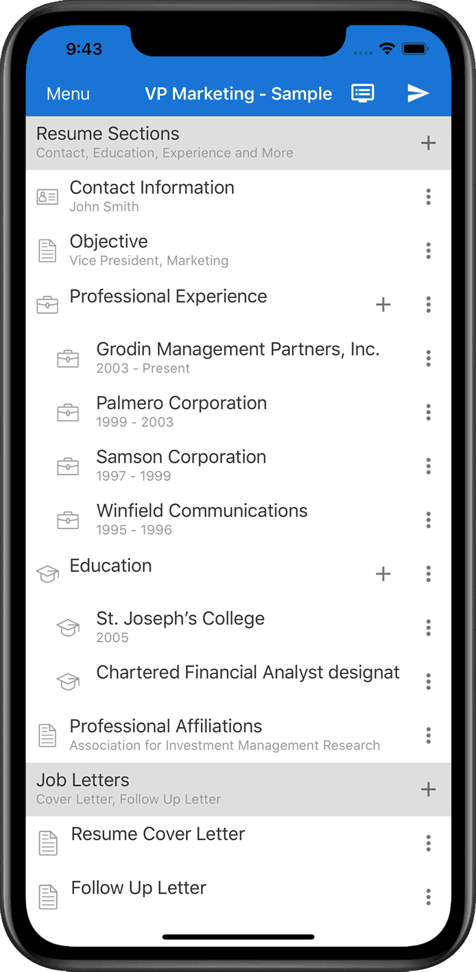 Create Resume Resume